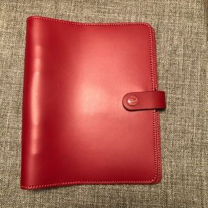 A5 original Filofax in red
